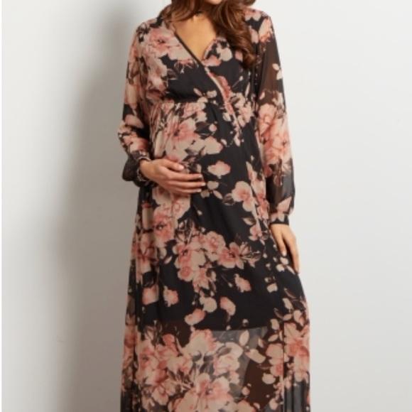 74775be893 Charcoal Floral Maternity Maxi Wrap Dress. M_5aa8724d85e605f2fac1bcec